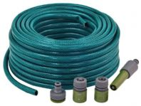 30 mtr Garden Hose Complete With Pipe Fittings + Tap Threads Hozelock Compatible